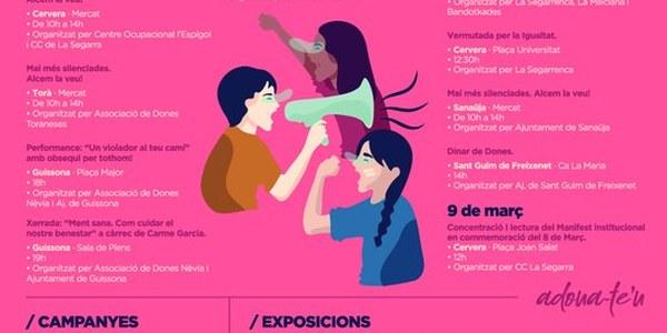 Actes en motiu del dia internacional de les dones organitzats a la Segarra