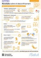Informació municipal per la Fase 2 de desconfinament