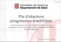 La Generalitat de Catalunya aprova un pla d'obertura progressiva d'activitats
