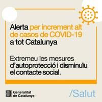 Noves mesures per aturar l'increment de casos de COVID a Catalunya