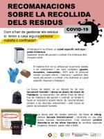 Recomanacions sobre la recollida de residus en cas de conviure amb una persona confinada o infectada per Coronavirus.
