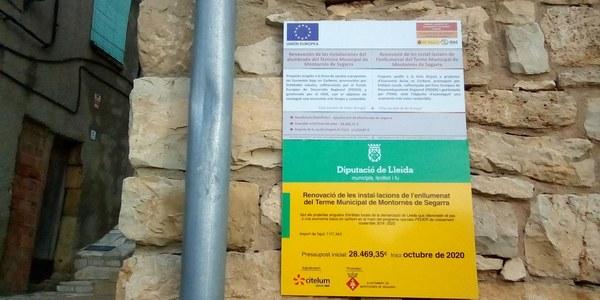 Renovació enllumenat públic a Montornès i Mas de Bondia
