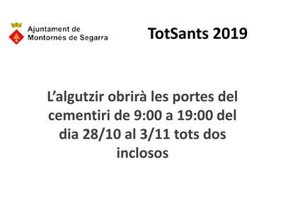 SETMANA DEL 28 D'OCTUBRE AL 3 DE NOVEMBRE